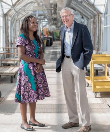 Kalenga Banda with Professor Chris Wien