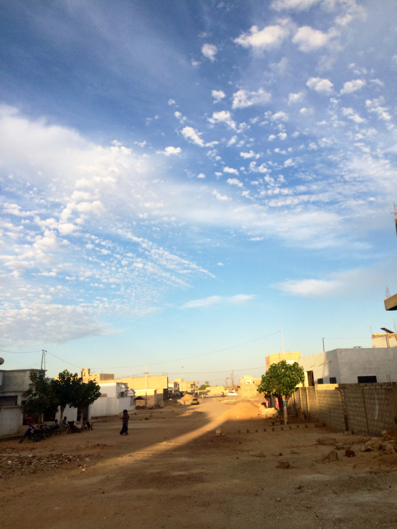 In Dakar, the road near her host family's house