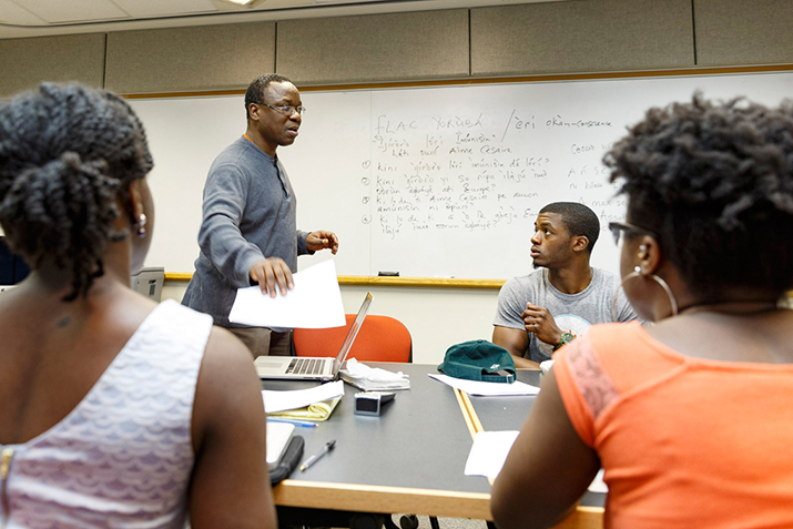 Professor Ademoyo teaching Yoruba