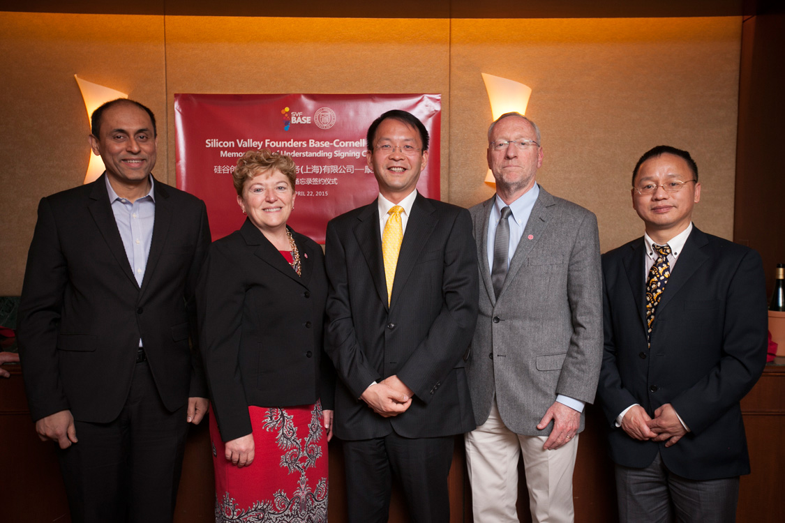 Signing ceremony for agreement with Shanghai University