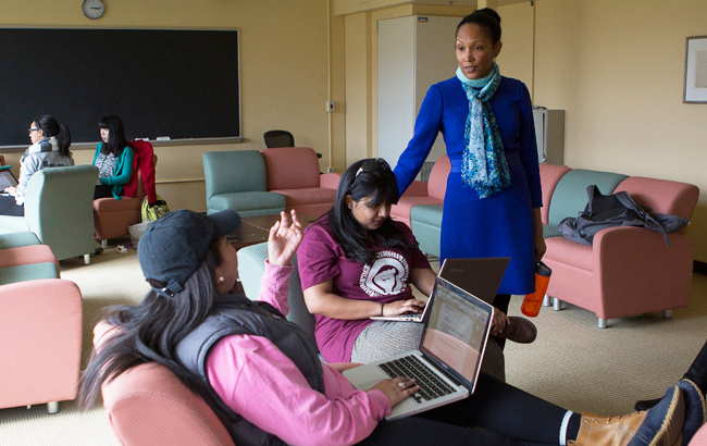 Students at the Africana Studies and Research Center