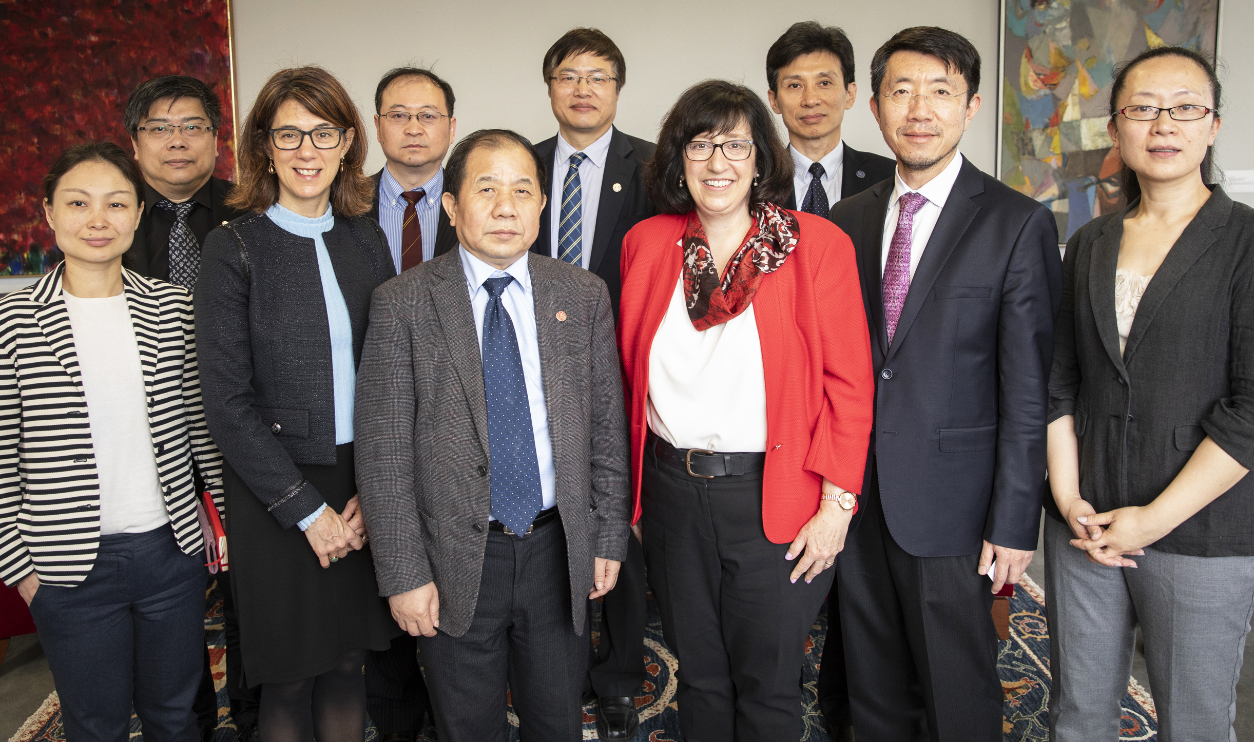 A delegation from Shanghai Jiao Tong University visits Cornell