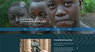 Screenshot of Einaudi Center website homepage