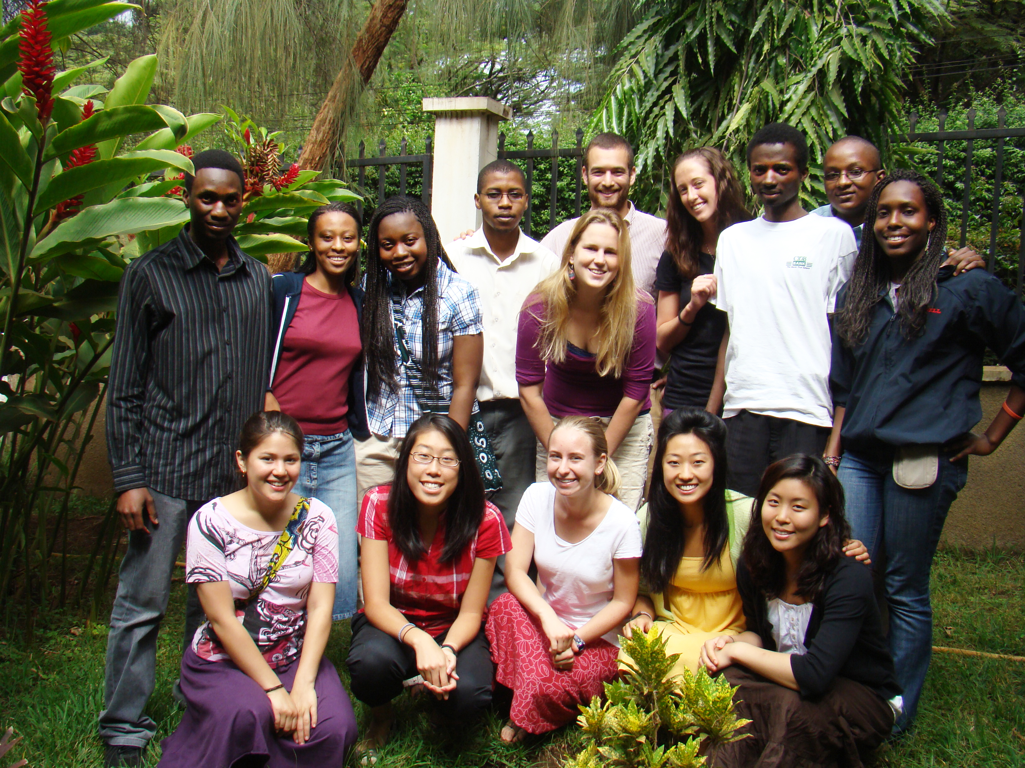 The first student cohort, Tanzania 2009