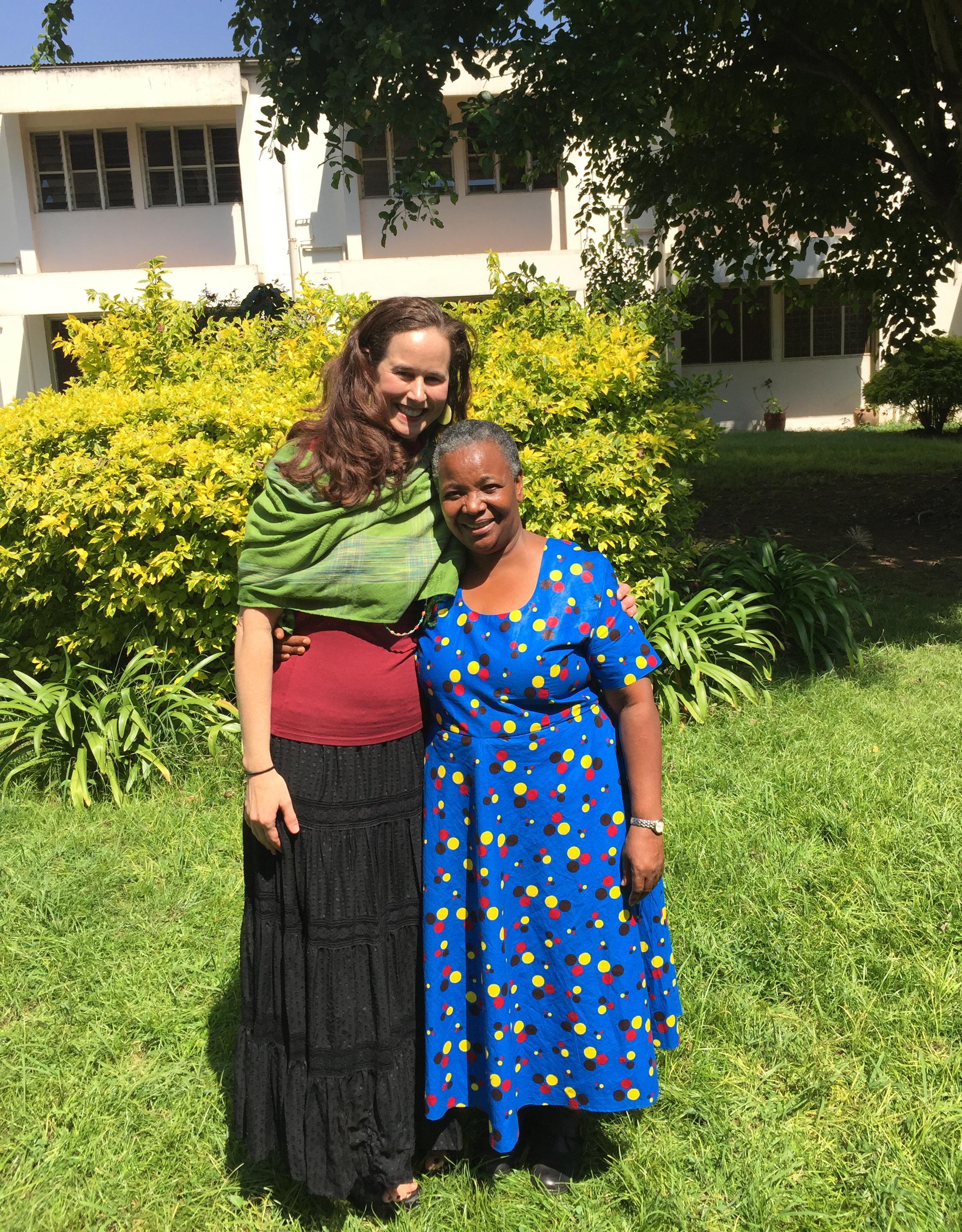 Jeanne Moseley and Rachel Manongi, program leads in 2017