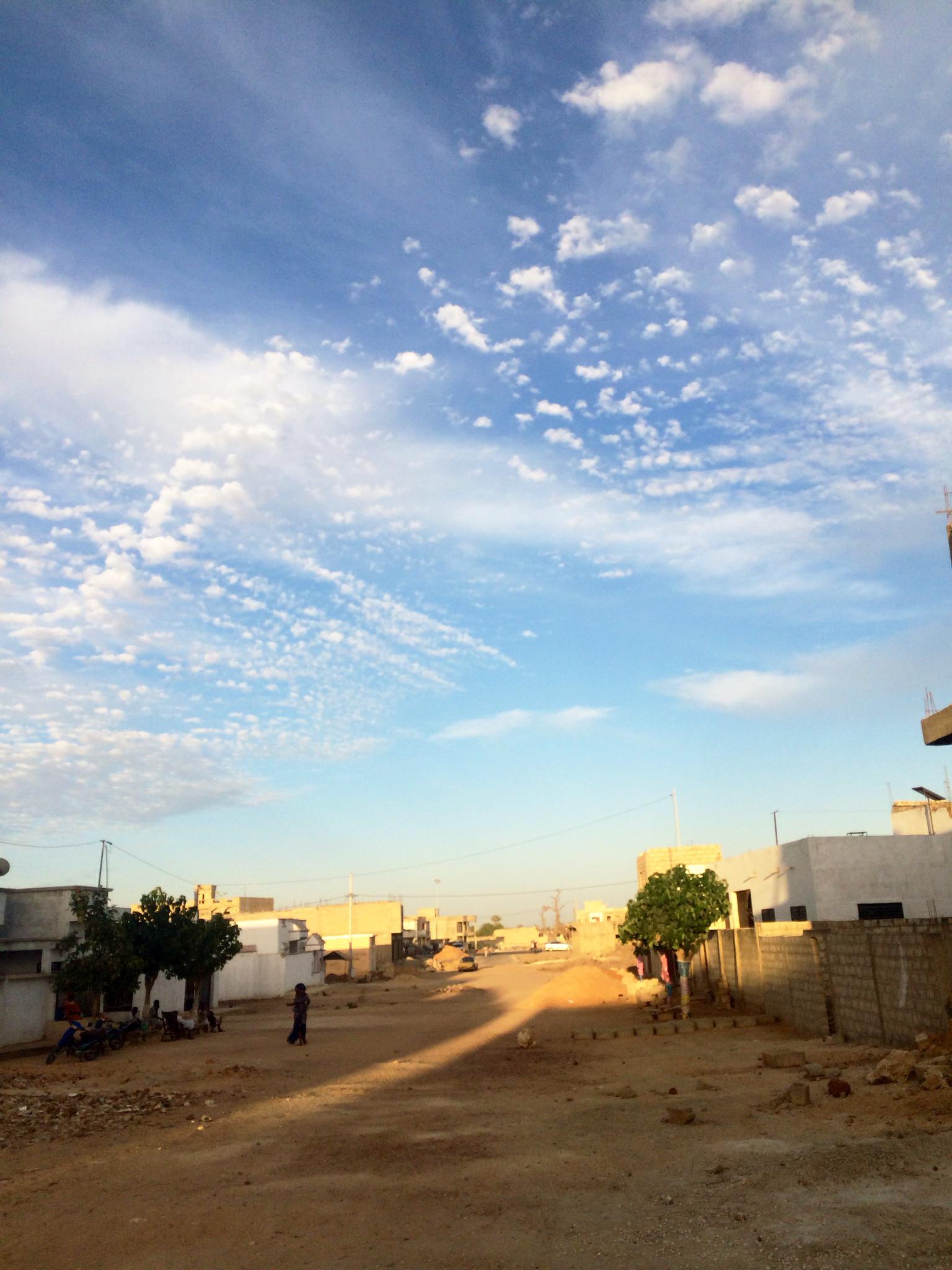 In Dakar, the road near her host family's house