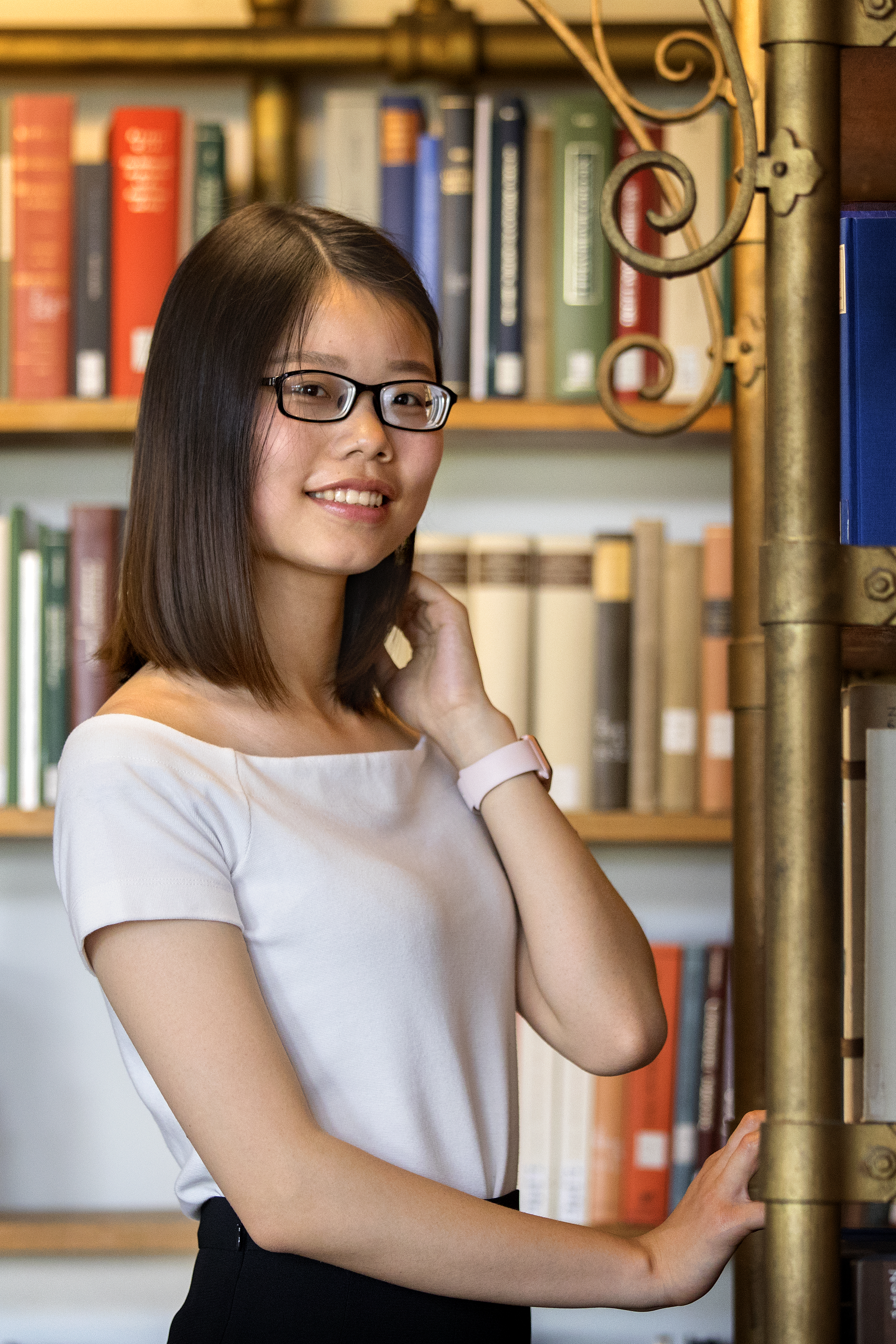 Huang in AD White Library