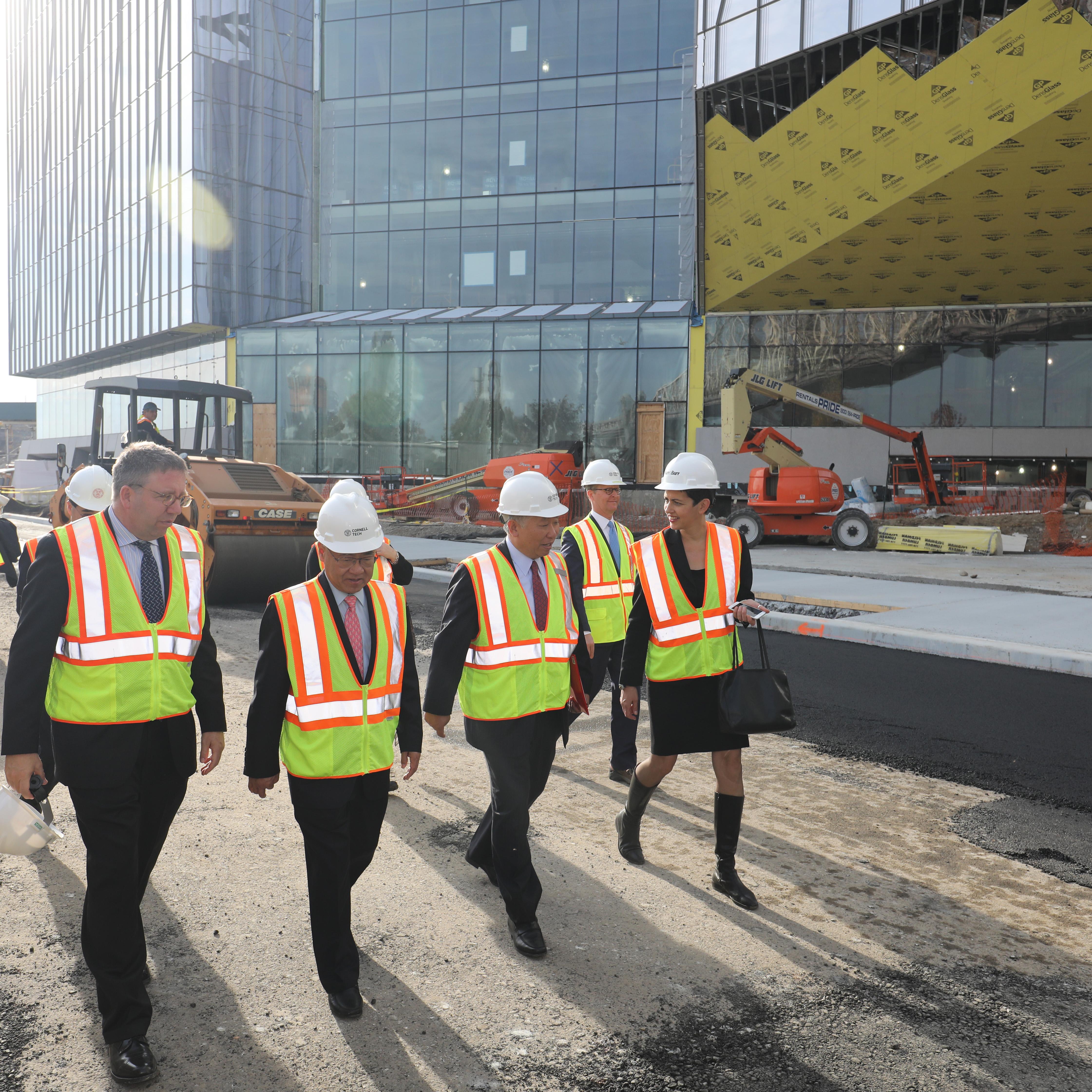 tour of Cornell Tech construction site