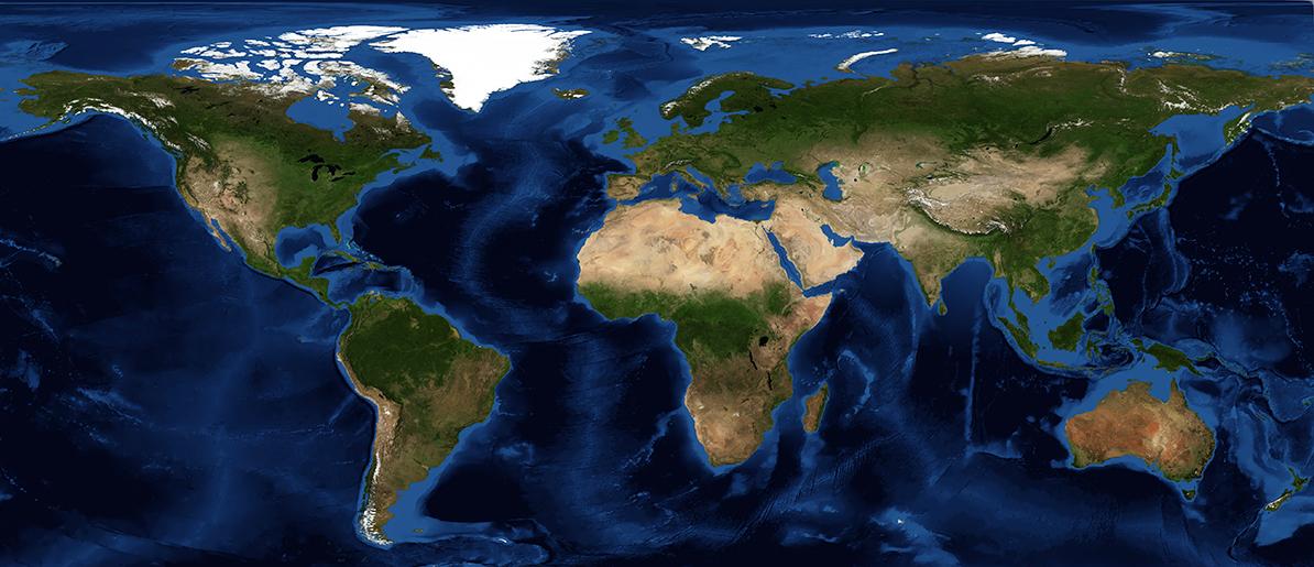 A NASA image of the world